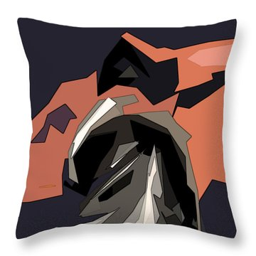 Abstract He Comes For Me Throw Pillow by David Dehner
