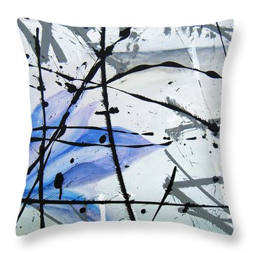 Abstract Impressionist Throw Pillow