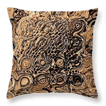 Abstract In Brown Throw Pillow