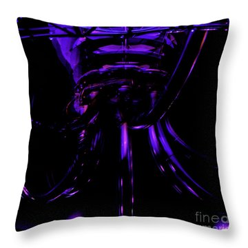 Throw Pillow featuring the photograph Abstract Invader by Clayton Bruster