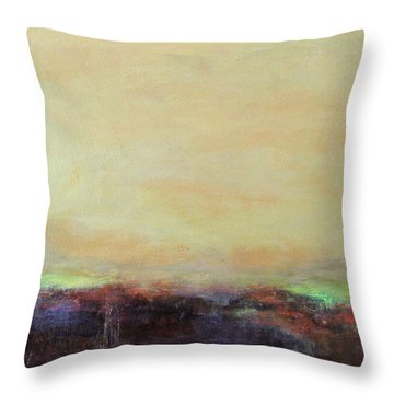 Abstract Landscape - Rose Hills Throw Pillow by Kathleen Grace