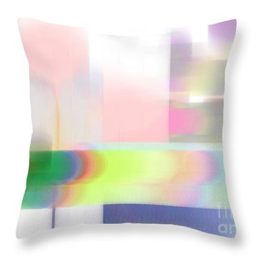 Abstract Landscape Throw Pillow by Sonali Gangane