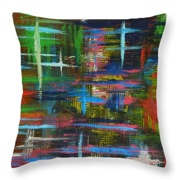Abstract Lines Throw Pillow by Everette McMahan jr