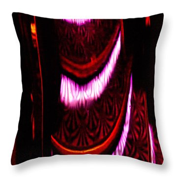 Abstract Magentas Throw Pillow by Christopher Holmes
