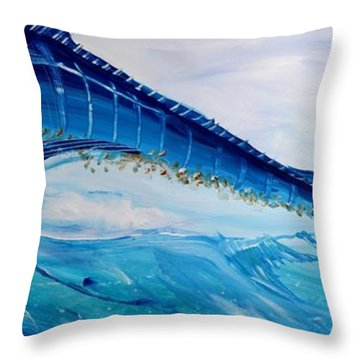 Abstract Marlin Throw Pillow by J Vincent Scarpace