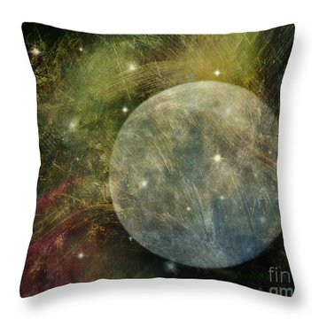 Abstract Moon Throw Pillow by Billie-Jo Miller