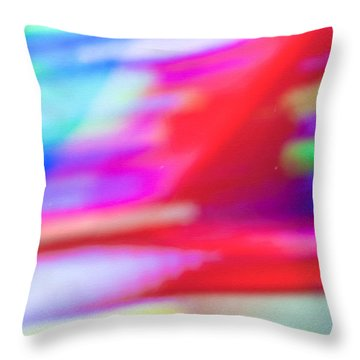 Abstract Oil Background Throw Pillow by Tom Gowanlock