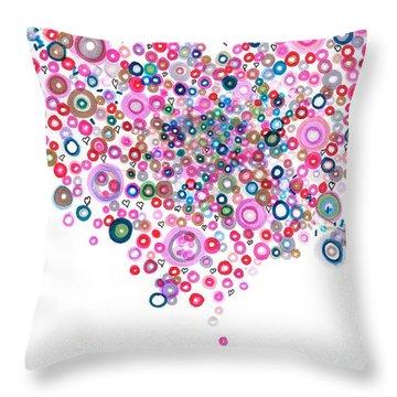 Abstract Pattern Valentine Throw Pillow by Regina Valluzzi
