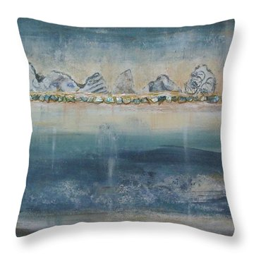 Abstract Scottish Landscape Throw Pillow