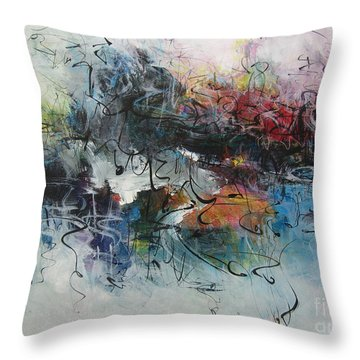 Abstract Seascape00117 Throw Pillow by Seon-Jeong Kim