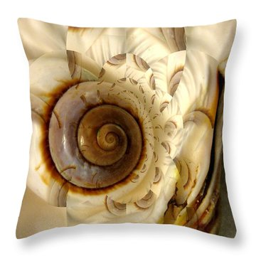 Abstract Seashell Throw Pillow by Shirley Sirois