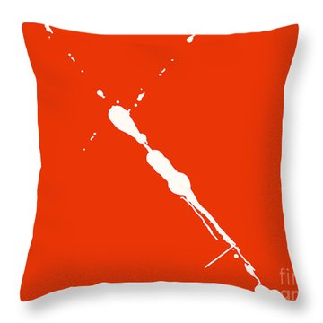 Abstract Splash 7 Throw Pillow by Pixel Chimp
