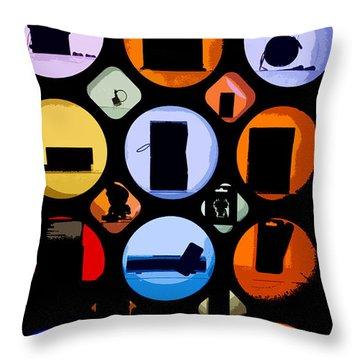 Abstract Stuff Throw Pillow