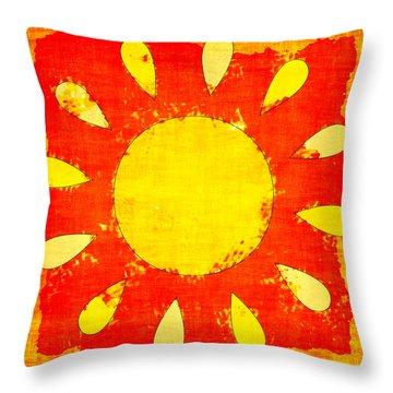 Abstract Sun Throw Pillow by David G Paul