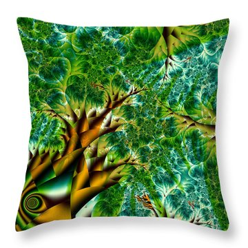 Abstract Trees Throw Pillow