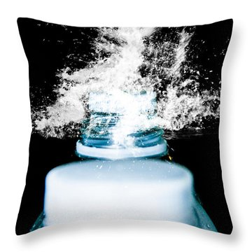 Throw Pillow featuring the photograph Abstract Water Spill by Ester  Rogers
