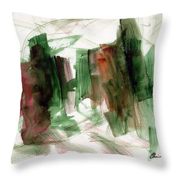 Abstract Watercolor 51 Throw Pillow