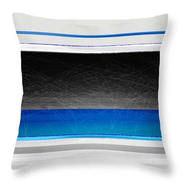 Abstract With Blue And Yellow  Throw Pillow