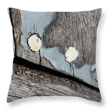 Abstract With Blue Throw Pillow