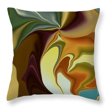 Abstract With Mood Throw Pillow by Deborah Benoit