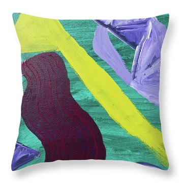 Abstract Woman Throw Pillow