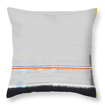 Abstract Yellow Throw Pillow by Naxart Studio