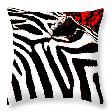 Abstract Zebra 001 Throw Pillow by Lon Casler Bixby