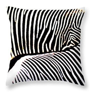 Abstract Zebra 002 Throw Pillow by Lon Casler Bixby