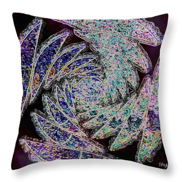 Throw Pillow featuring the painting Abstraction by Paula Ayers