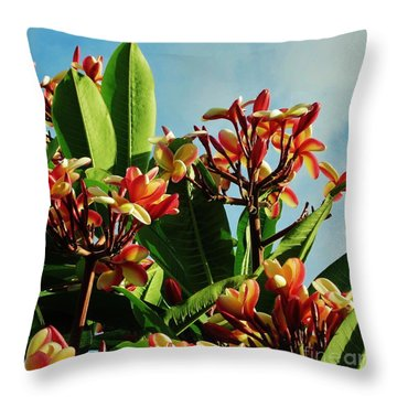 Abundance Of Red And Yellow Throw Pillow by Craig Wood