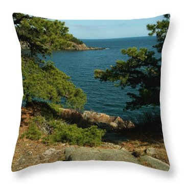 Acadia In Maine Throw Pillow