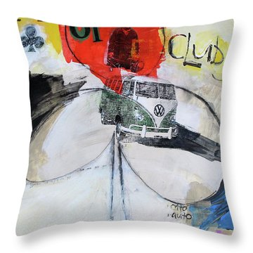 Throw Pillow featuring the painting Ace Of Clubs 36-52 by Cliff Spohn