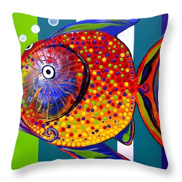 Acidfish 60 Throw Pillow
