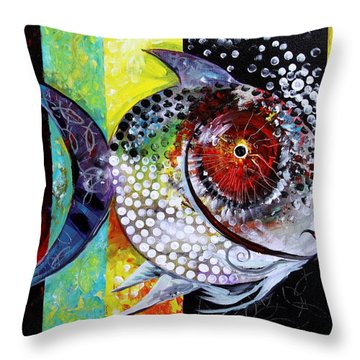 Acidfish 70 Throw Pillow by J Vincent Scarpace