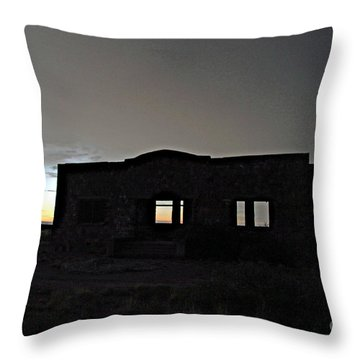 Acme School At Twilight Throw Pillow