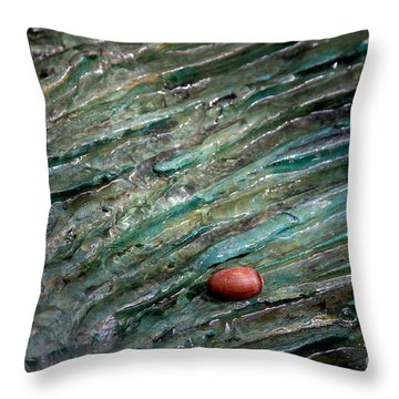 Throw Pillow featuring the photograph Acorn Fountain by Jerry Bunger