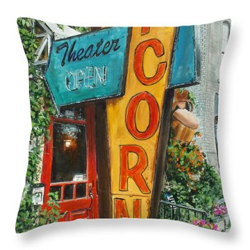 Acorn Theater Throw Pillow