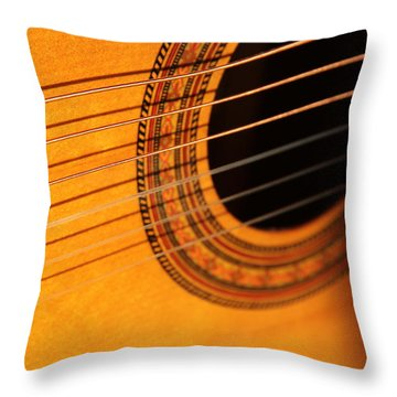 Acoustic In The Sunset Throw Pillow by Elizabeth Sullivan