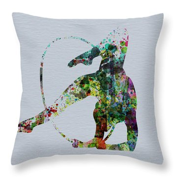 Acrobatic Dancer Throw Pillow