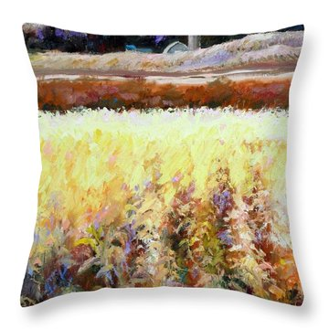 Across The Cornfield Throw Pillow