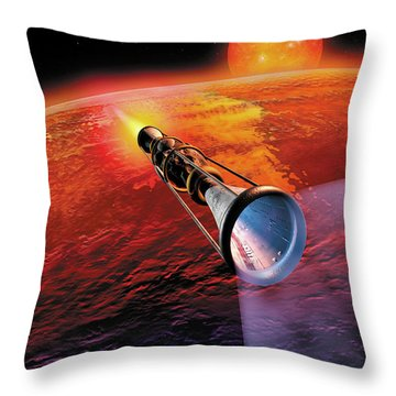 Across The Sea Of Suns Throw Pillow by Don Dixon