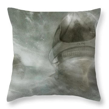 Throw Pillow featuring the digital art Ad 3370 Police Chaser by Jean Moore