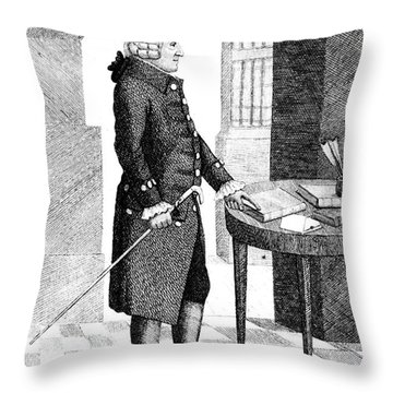 Adam Smith, Scottish Philosopher & Throw Pillow by Photo Researchers