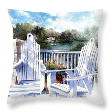Adirondack Chairs Too Throw Pillow
