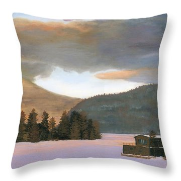 Adirondack Morning Throw Pillow