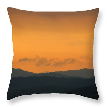 Throw Pillow featuring the photograph Adirondacks by Steven Richman