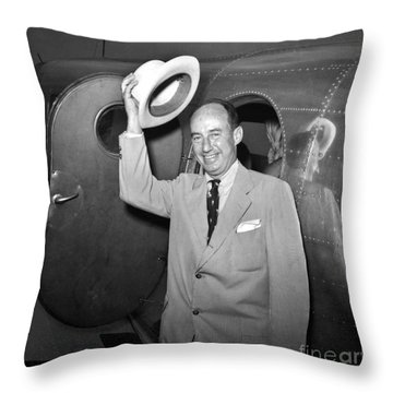 Adlai Stevenson (1900-1965) Throw Pillow by Granger