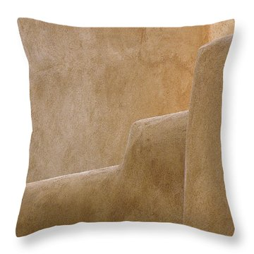 Adobe Walls Throw Pillow by FeVa  Fotos
