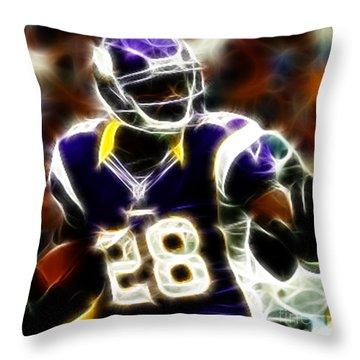 Adrian Peterson 02 - Football - Fantasy Throw Pillow by Paul Ward