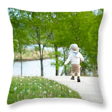 Adventure Throw Pillow by Sebastian Musial